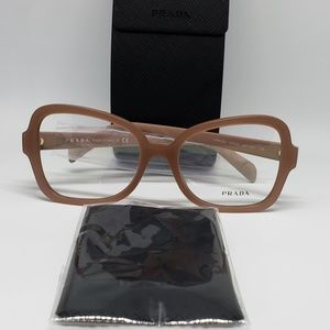 Prada RX New Authentic Eyeglasses (Beige)
